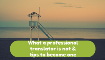 How (Not) to Be a Professional Translator