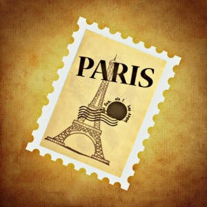 Paris stamp for Kim post