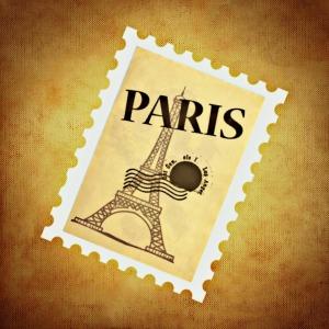 Paris stamp for Kim post