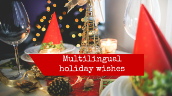 Multilingual holiday wishes