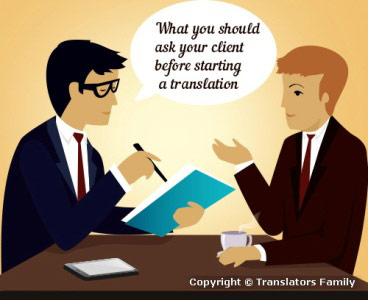What to ask your client before starting a translation